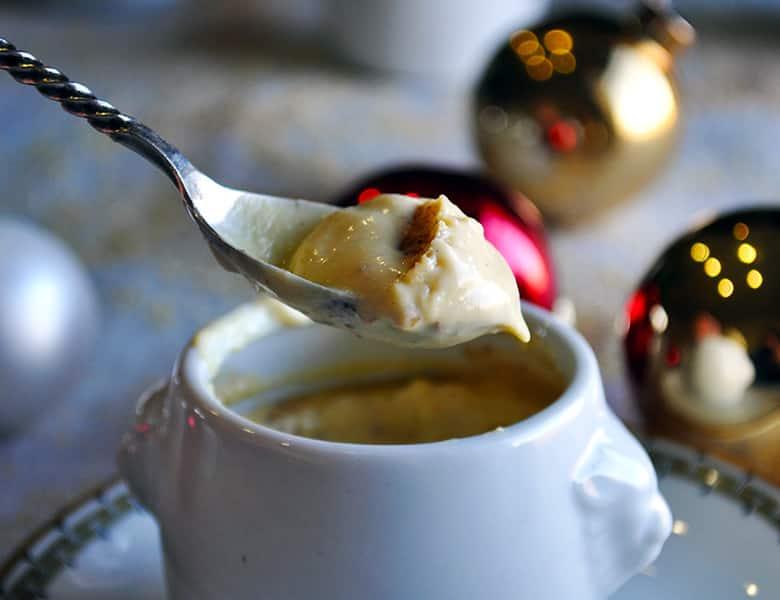 Eggnog pots de creme   eggnog custard   ofbatteranddough.com