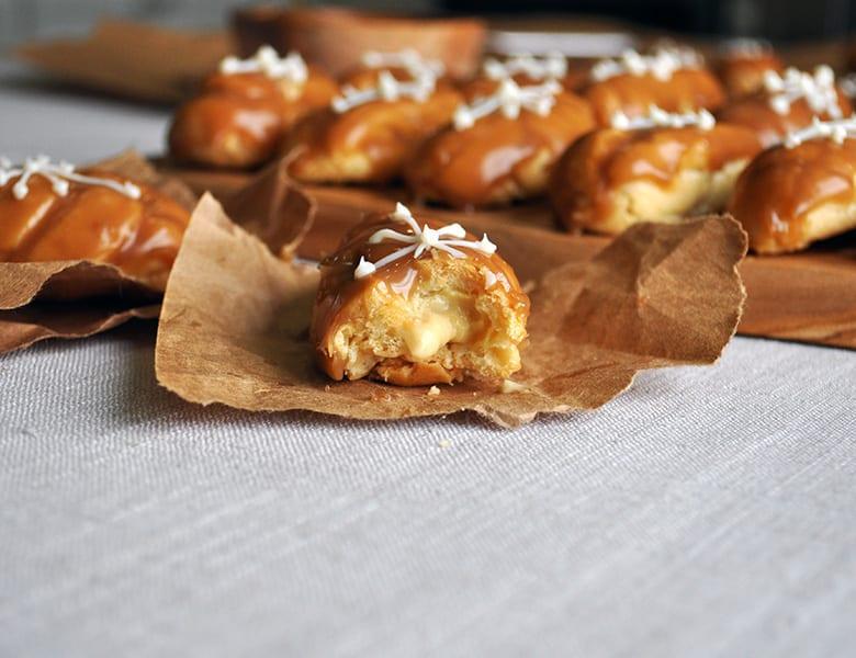 Mini Butterscotch Eclairs