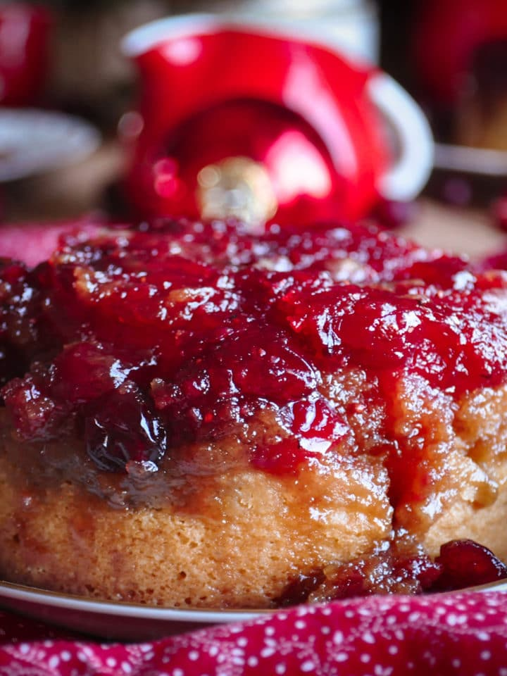 A cranberry pineapple upside down cake.