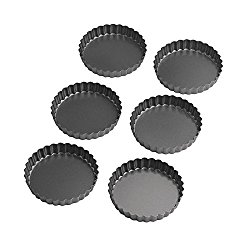 4-inch non stick removable bottom tart pans