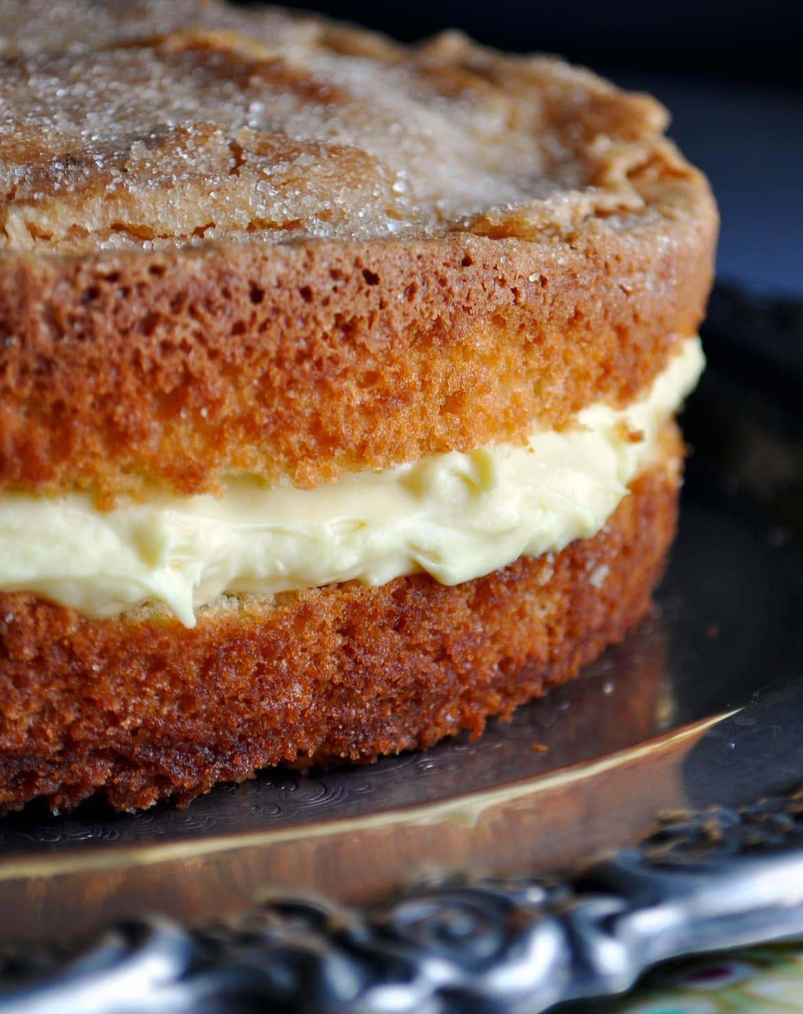 Italian Lemon Cream Cake Mascarpone