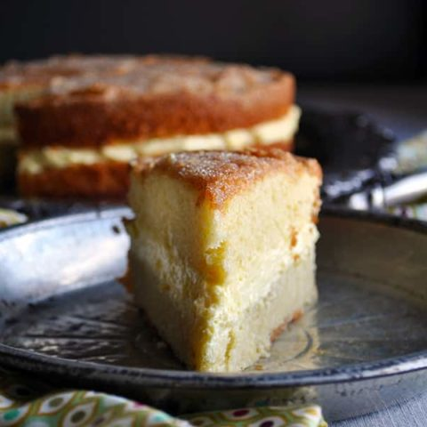 Olive Oil Cake with Lemon Mascarpone Cream