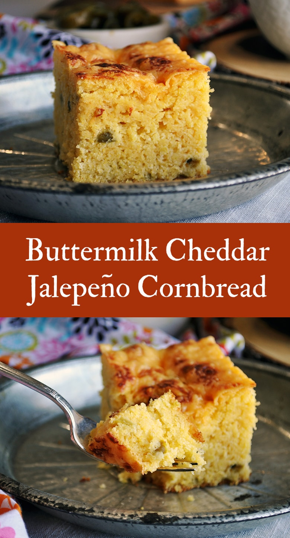 Buttermilk Cheddar Jalapeño Cornbread.
