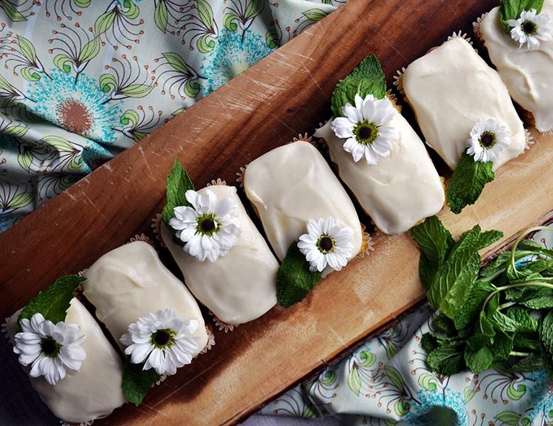Mini lime pound cakes.