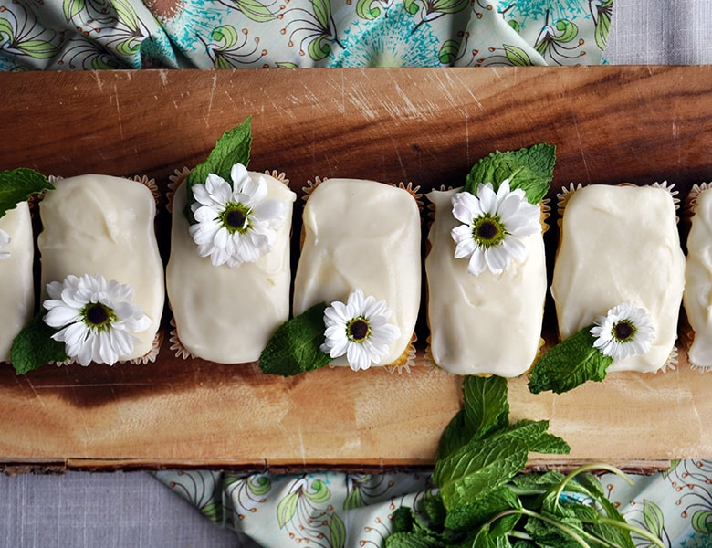 Mini Lime Pound Cakes Of Batter And Dough