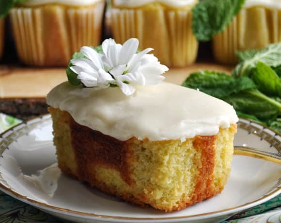 A mini lime pound cake.