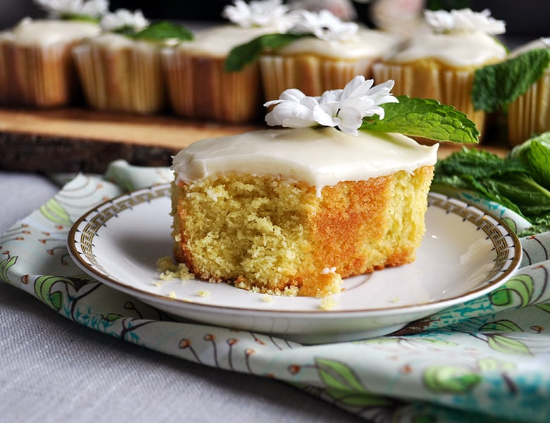 A mini lime pound cake.