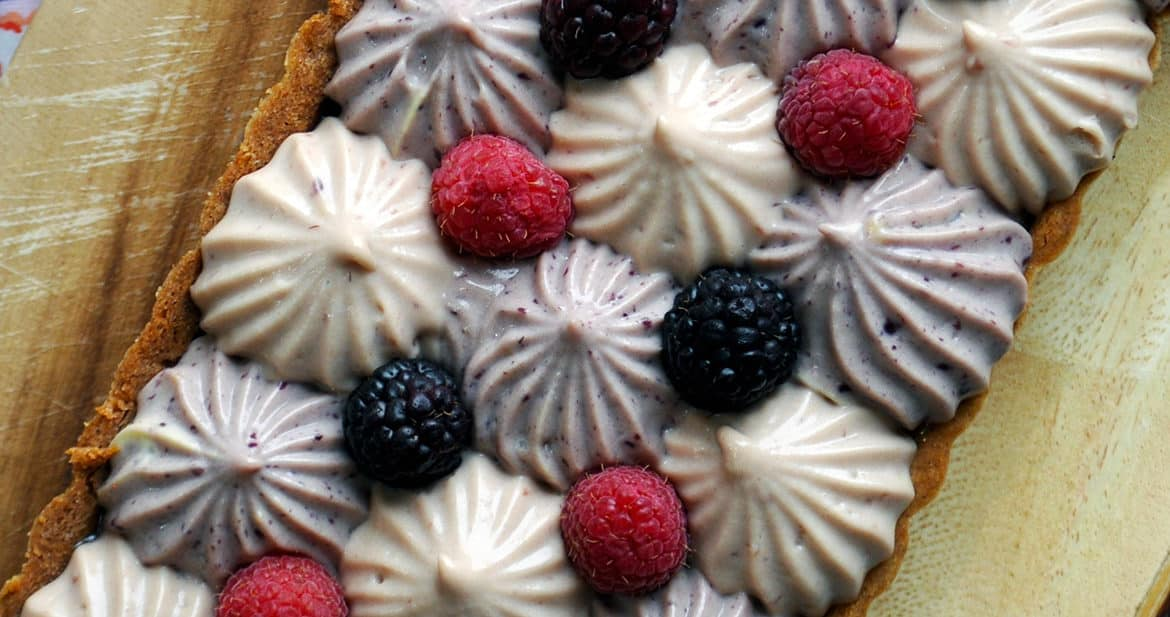 Mixed Berry and Lemon Custard Tart