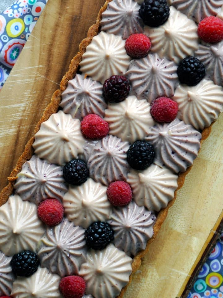 Mixed Berry and Lemon Custard Tart