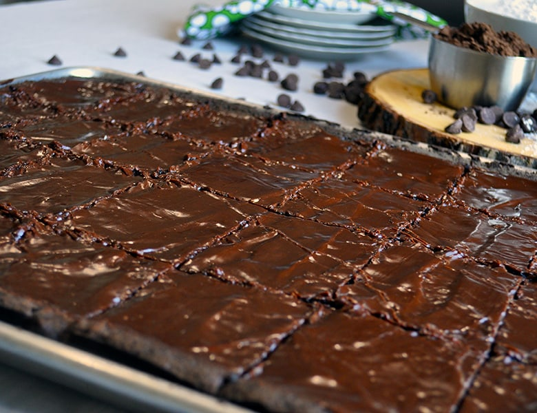 Sheet Pan Frosted Brownies for a Crowd