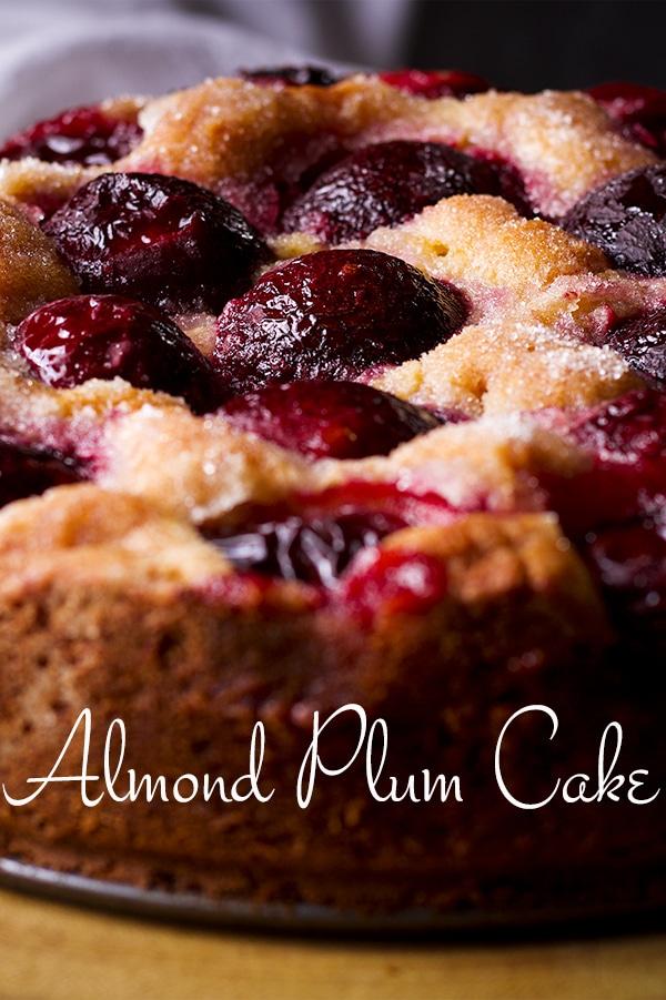 A freshly baked Almond Plum Cake.
