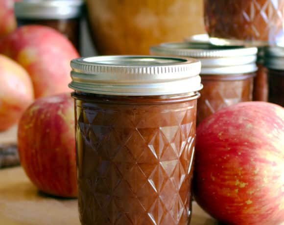 No peel, slow cooker apple butter for canning.