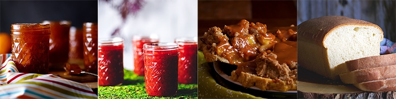 More delicious recipes: Perfect Peach Preserves, Recipe Strawberry Rhubarb Jam, Caramel Apple Pie, Simple Homemade White Bread