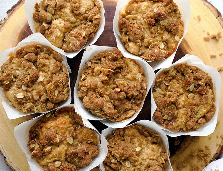 Apple Cinnamon Muffins with Apple Butter and Streusel