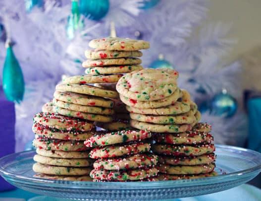 Funfetti Christmas Cookies | Cream cheese sugar cookies