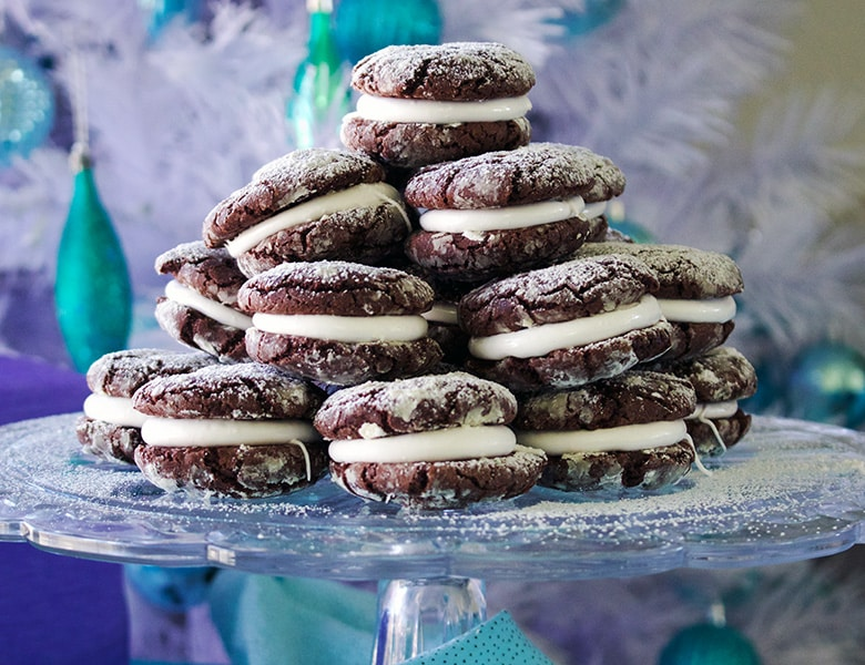 Brownie Krinkle Cookies with Marshmallows