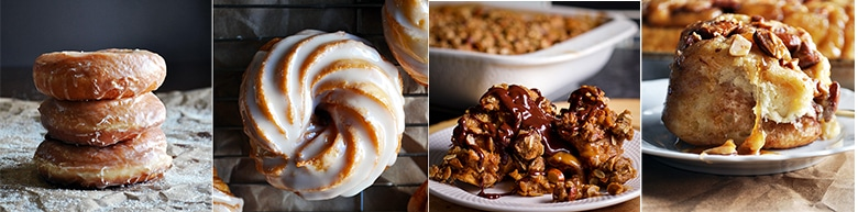 More Breakfast and Brunch Recipes: Overnight Yeast Raised Doughnuts, French Cruller Doughnuts, Dulce de Leche Baked French Toast, Overnight Sticky Buns {Caramel Rolls}