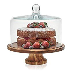 Libbey Acaciawood Cake Stand