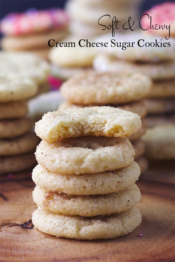Soft and Chewy Cream Cheese Sugar Cookies