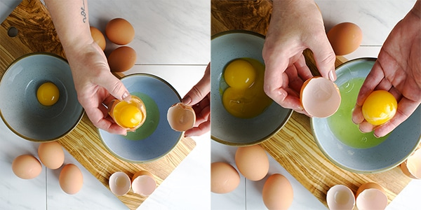 How to separate eggs.
