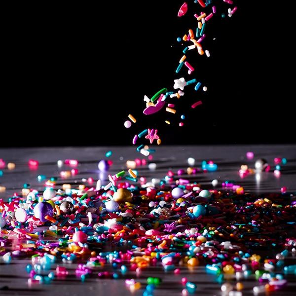 Falling sprinkles.