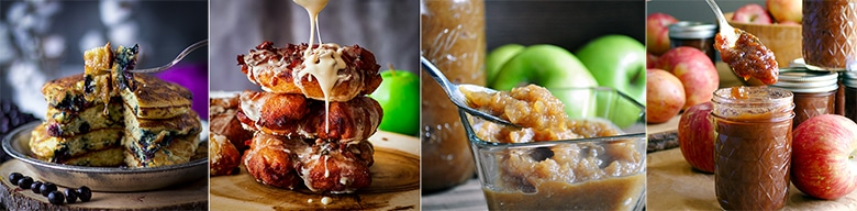 More great recipes: The Fluffiest Blueberry Pancakes, Apple Fritters with Maple Glaze, Sugar Free Homemade Apple Sauce, No Peel Slow Cooker Apple Butter