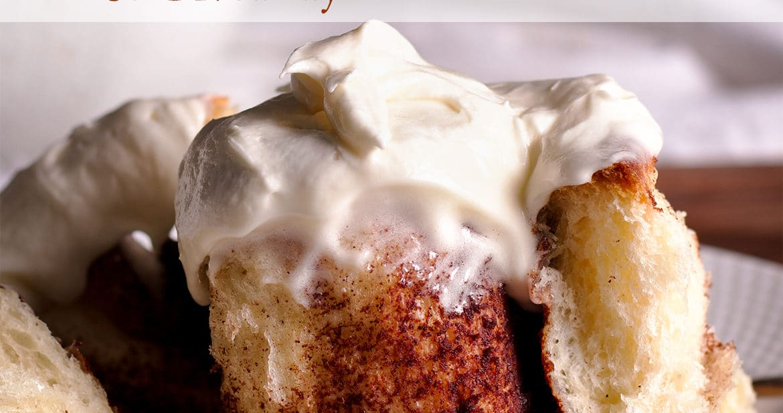 The January Bake Club Baking Challenge Recipe is Homemade Cinnamon Rolls.