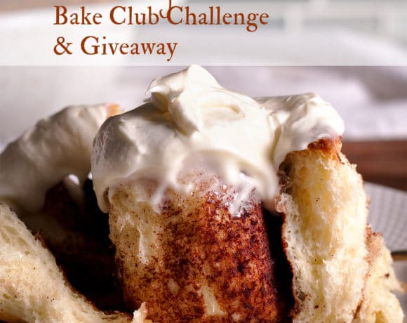 The January Bake Club Baking Challenge Recipe is Homemade Cinnamon Rolls.