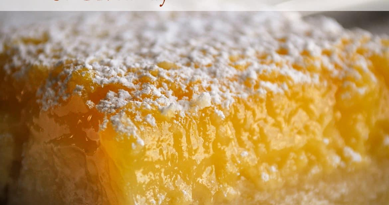 The April Bake Club challenge is Lemon Bars.