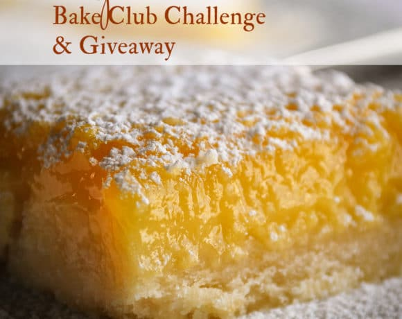 The April Bake Club challenge is Lemon Bars.