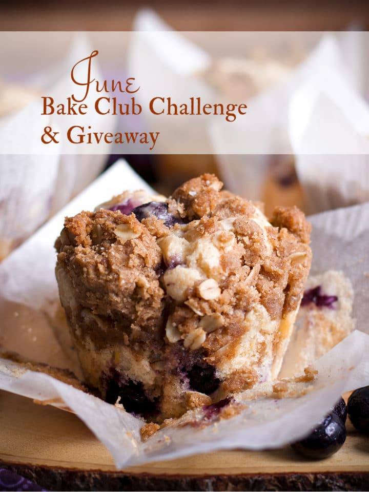 The June Bake Club challenge is Blueberry Muffins.