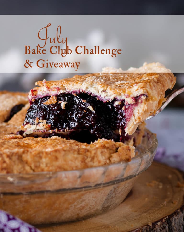 The July Bake Club Challenge Recipe is Blueberry Pie
