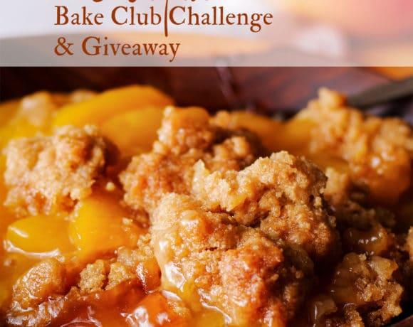 The August, 2020 Bake Club Challenge is Peach Cobbler