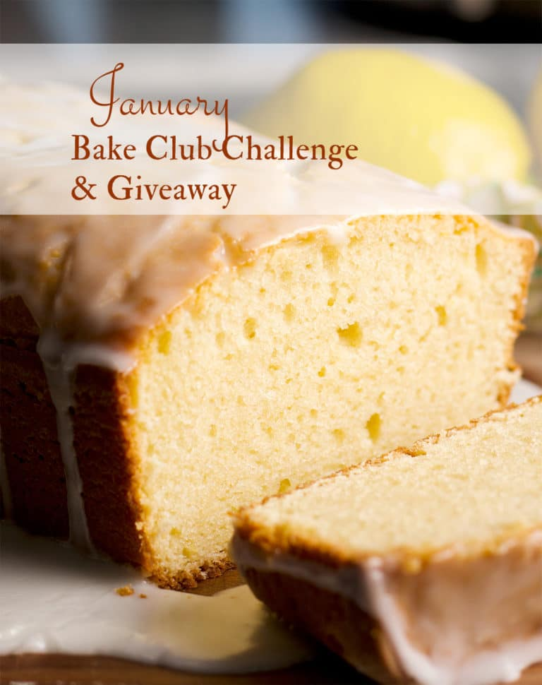The January 2021 Bake Club Challenge Recipe is this Lemon Loaf Cake