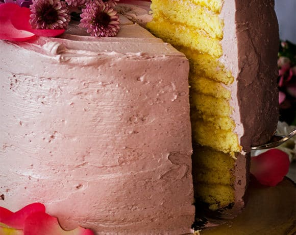 8-Layer Lemon Cake with Blackberry Buttercream