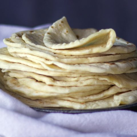 Soft Homemade Flour Tortillas {All Butter Recipe}